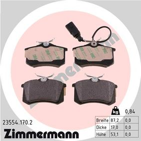 Bremsbelagsatz, Scheibenbremse Breite: 87,2mm, Höhe: 53,1mm, Dicke/Stärke: 17,0mm mit OEM-Nummer 1343513