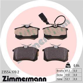 Bremsbelagsatz, Scheibenbremse Breite: 87mm, Höhe: 53mm, Dicke/Stärke: 17mm mit OEM-Nummer 1343513