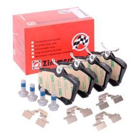 Juego de pastillas de freno Ancho: 87,2mm, Altura: 53,1mm, Espesor: 17,0mm con OEM número 5K0 698 451 B