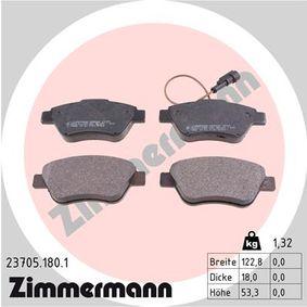 Cuerpo de Mariposa FIAT STILO (192) 1.4 16V de Año 01.2004 95 CV: Juego de pastillas de freno (23705.180.1) para de ZIMMERMANN