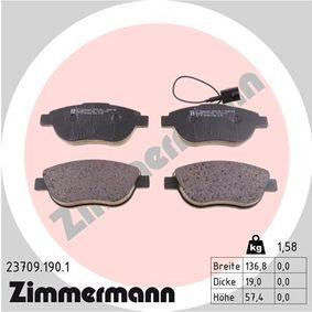 Bremsbelagsatz, Scheibenbremse Breite: 137mm, Höhe: 57mm, Dicke/Stärke: 19mm mit OEM-Nummer 7 736 6528
