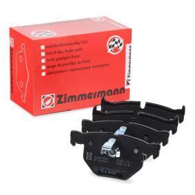 ZIMMERMANN Bremsbelagsatz, Scheibenbremse 23732.170.1 für BMW 5 (E60) 530 xi ab Baujahr 01.2007, 272 PS