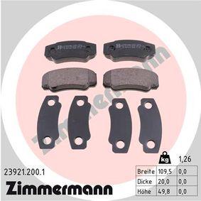 Bremsbelagsatz, Scheibenbremse Breite: 110mm, Höhe: 50mm, Dicke/Stärke: 20mm mit OEM-Nummer 4254.68