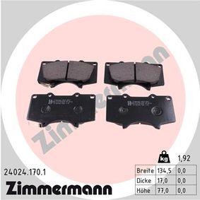 Bremsbelagsatz, Scheibenbremse Breite: 134,5mm, Höhe: 77,0mm, Dicke/Stärke: 17,0mm mit OEM-Nummer 04465 35290