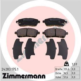 Bremsbelagsatz, Scheibenbremse Breite: 126mm, Höhe: 52mm, Dicke/Stärke: 16mm mit OEM-Nummer 24285