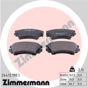 Brake Pad Set, disc brake Width: 142mm, Height: 67mm, Thickness: 19mm with OEM Number 1605186