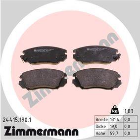 Bremsbelagsatz, Scheibenbremse Breite: 131mm, Höhe: 60mm, Dicke/Stärke: 19mm mit OEM-Nummer 1605236