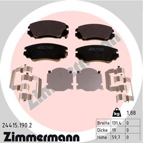 Bremsbelagsatz, Scheibenbremse Breite: 131mm, Höhe: 60mm, Dicke/Stärke: 19mm mit OEM-Nummer 16 05 185