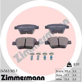 Bremsbelagsatz, Scheibenbremse Breite: 109mm, Höhe: 53mm, Dicke/Stärke: 16mm mit OEM-Nummer 5K0 698 451 C