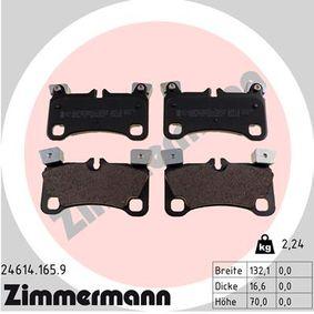 Bremsbelagsatz, Scheibenbremse Breite: 136mm, Höhe: 70mm, Dicke/Stärke: 17mm mit OEM-Nummer 95535293961