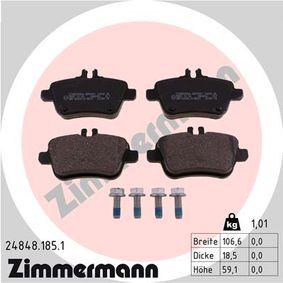 Bremsbelagsatz, Scheibenbremse Breite 1: 106mm, Höhe 1: 59mm, Dicke/Stärke: 19mm mit OEM-Nummer A00 742 09 420