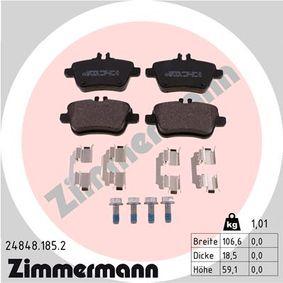 Bremsbelagsatz, Scheibenbremse Breite 1: 106mm, Höhe 1: 59mm, Dicke/Stärke: 19mm mit OEM-Nummer A 007 420 94 20