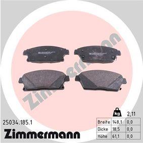 Bremsbelagsatz, Scheibenbremse Breite: 148,1mm, Höhe: 61,1mm, Dicke/Stärke: 18,5mm mit OEM-Nummer 95516193