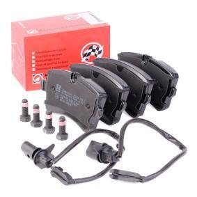 Kit de plaquettes de frein, frein à disque Largeur 1: 116,6mm, Hauteur 1: 60mm, Hauteur 2: 59mm, Épaisseur 1: 17,5mm avec OEM numéro 4G0 698 451 H