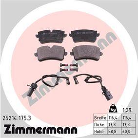 Bremsbelagsatz, Scheibenbremse Breite 1: 116mm, Höhe 1: 60mm, Höhe 2: 59mm, Dicke/Stärke: 18mm mit OEM-Nummer 4H0698451D
