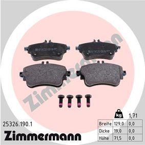 Bremsbelagsatz, Scheibenbremse Breite 1: 129mm, Höhe 1: 71,5mm, Dicke/Stärke 1: 19,0mm mit OEM-Nummer A008 420 0420