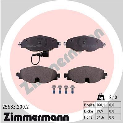 Bremsklötze ZIMMERMANN D17608989 Erfahrung