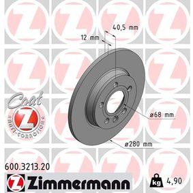 Bremsscheibe Bremsscheibendicke: 12mm, Felge: 5-loch, Ø: 280mm mit OEM-Nummer 701615601/A