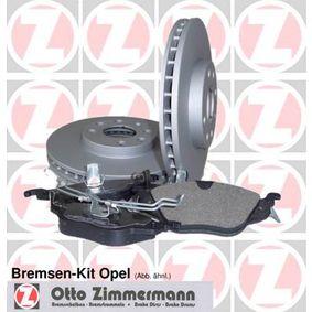 Bremsensatz für OPEL CORSA C (F08, F68) 1.2 75 PS ab Baujahr 09.2000 ZIMMERMANN Bremsensatz, Scheibenbremse (640.4207.00) für