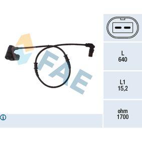 Sensor, Raddrehzahl Pol-Anzahl: 2-polig mit OEM-Nummer A168-540-01-17