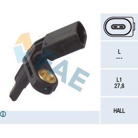 Sensor, Raddrehzahl Pol-Anzahl: 2-polig mit OEM-Nummer 7H0.927.803