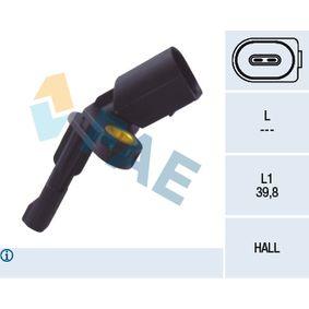 Sensor, Raddrehzahl Pol-Anzahl: 2-polig mit OEM-Nummer 1K0.927.808