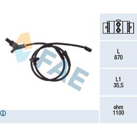 Sensor, Raddrehzahl Pol-Anzahl: 2-polig mit OEM-Nummer 6N0927807