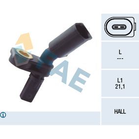 Sensor, wheel speed Number of Poles: 2-pin connector with OEM Number 6Q0 927 804B