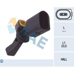 Sensor, Raddrehzahl Pol-Anzahl: 2-polig mit OEM-Nummer WHT003863