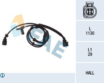 FAE  78029 Sensor, Raddrehzahl