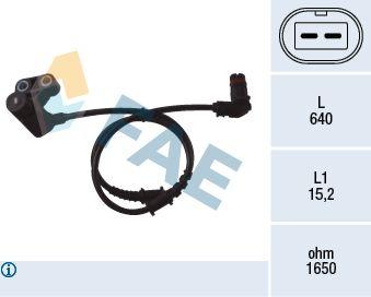 FAE  78051 Sensor, Raddrehzahl Pol-Anzahl: 2-polig