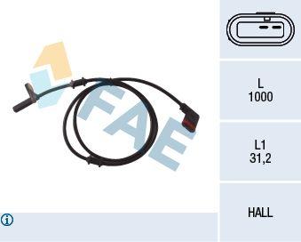 FAE  78037 Sensor, Raddrehzahl