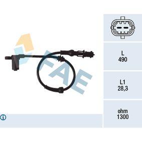 Sensor, Raddrehzahl Pol-Anzahl: 2-polig mit OEM-Nummer 9115064