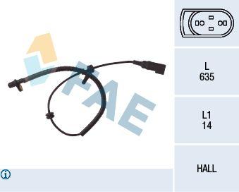 FAE  78035 Sensor, Raddrehzahl Pol-Anzahl: 2-polig