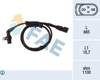 FAE  78040 Sensor, Raddrehzahl Pol-Anzahl: 2-polig