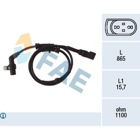 Sensor, Raddrehzahl Pol-Anzahl: 2-polig mit OEM-Nummer 1E00-43-701 B