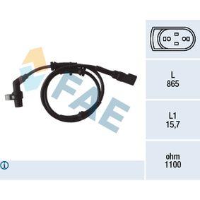Sensor, Raddrehzahl Pol-Anzahl: 2-polig mit OEM-Nummer 96FB2B372BD