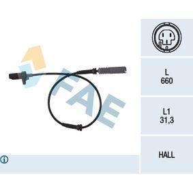 Sensor, Raddrehzahl Pol-Anzahl: 2-polig mit OEM-Nummer 34 52 1 182 159