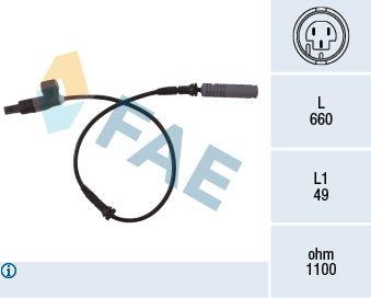 FAE  78023 Sensor, Raddrehzahl Pol-Anzahl: 3-polig