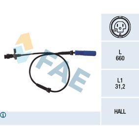 Sensor, Raddrehzahl Pol-Anzahl: 2-polig mit OEM-Nummer 3452 0 025 723