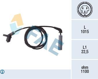 FAE  78019 Sensor, Raddrehzahl Pol-Anzahl: 2-polig