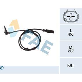 Sensor, Raddrehzahl Pol-Anzahl: 2-polig mit OEM-Nummer 55700425