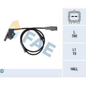 Sensor, Raddrehzahl Pol-Anzahl: 2-polig mit OEM-Nummer 96436880
