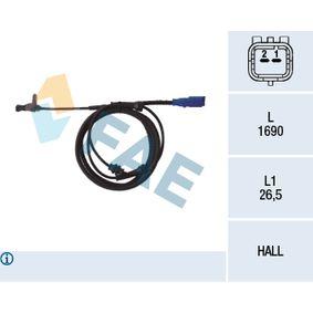 Sensor, Raddrehzahl Art. Nr. 78098 120,00€