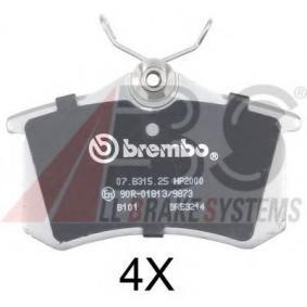A.B.S. Bremsbelagsatz, Scheibenbremse 36623S für AUDI A4 Avant (8E5, B6) 3.0 quattro ab Baujahr 09.2001, 220 PS