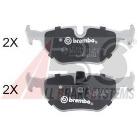 Bremsbelagsatz, Scheibenbremse Breite 1: 123mm, Höhe 1: 44,8mm, Dicke/Stärke 1: 17mm mit OEM-Nummer 34211164501