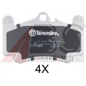 Bremsbelagsatz, Scheibenbremse Breite 1: 140mm, Höhe 1: 88,5mm, Dicke/Stärke 1: 17mm mit OEM-Nummer 996 351 949 10