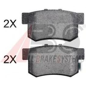 2004 Honda Civic Mk7 2.0 Type-R Brake Pad Set, disc brake 36757 OE