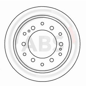 Disque de frein Épaisseur du disque de frein: 18mm, Jante: 6Trou, Ø: 312mm avec OEM numéro 4243160190