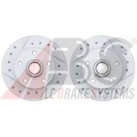 Bremsscheibe Bremsscheibendicke: 10mm, Felge: 5-loch, Ø: 226mm, Ø: 226mm mit OEM-Nummer 6N0.615.601